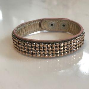 Swarovski Cuff Bracelet - Rose Gold