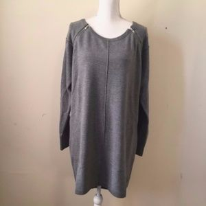 [SALE] French Connection Gray Zipper Sweater Dress