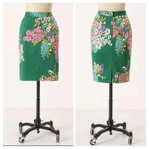 Odille Penciled Abronia Vintage Floral Skirt