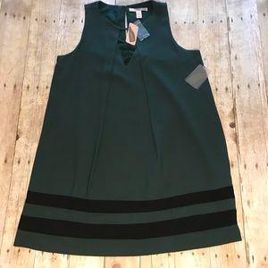 Forever 21 Dress Hunter Green sleeveless