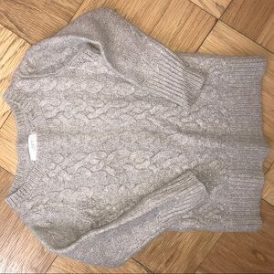 Cable-Knot Wool Sweater