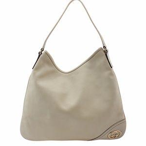 Gucci Britt White Leather Hobo (137049)