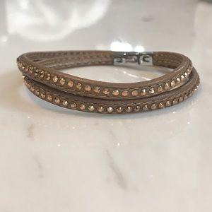 Swarovski Double Wrap Bracelet - Bronze
