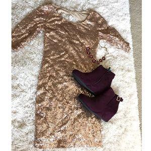 🍁🍂Gold sequin dress 🍂🍁 NEW