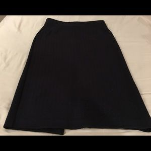 Theory navy skirt