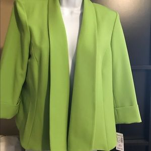 Dress Barn New with Tags Cropped Green Blazer