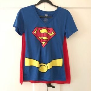 Tops - Womans Superman Tee w/cape