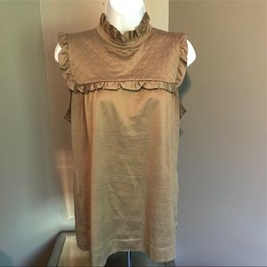 Zara Sleeveless Ruffled Top