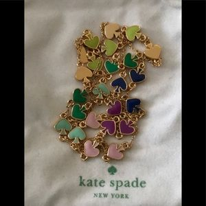 Kate Spade Gold Tone enamel necklace
