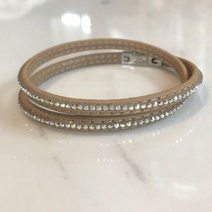 Swarovski Double Wrap Bracelet - Aurora Borealis