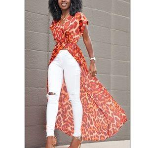 Tops - Chiffon tunic blouse
