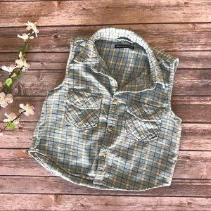 Brandy Melville Flannel Crop Top