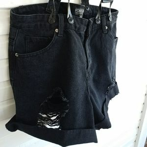 High Waisted Suspender Shorts