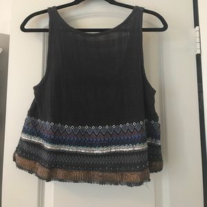 Ecote Embroidered Beaded Top