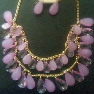 A NWT Women's Prizma Necklace and Earrings Set