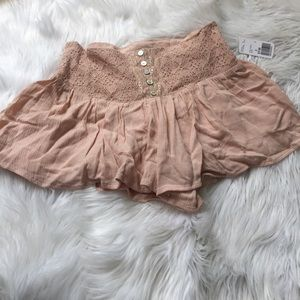 NWT Forever 21 blush pink sweetheart shorts Small