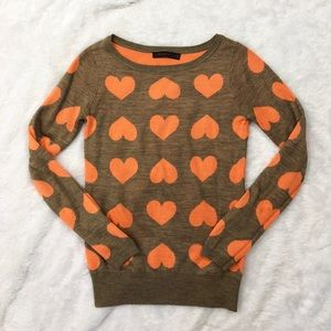 The Limited • Heart Thanksgiving Sweater Wool