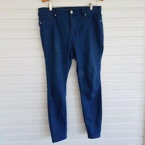 High Waisted Indigo Skinny Jeans
