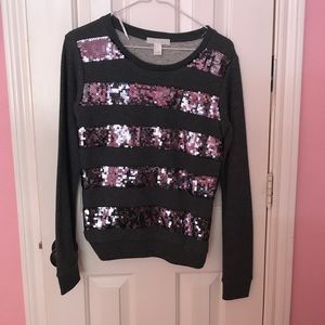 Small sequin striped sweater never worn