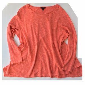 EILEEN FISHER swing hem linen cotton sweater 2X
