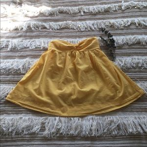 Forever 21 Yellow Bandeau Tube Top Babydoll top