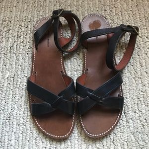 Isabel Marant Black Leather Sandals