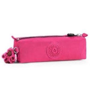 Nwt hot pink Kipling zip pouch