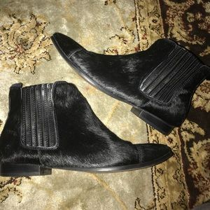 Shoes - Real Fur Ankle Boots (Manmade) Size: 8.5