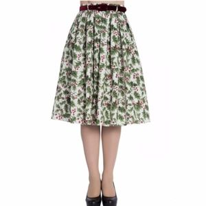Hell Bunny Holly Pinup Skirt Christmas Rockabilly