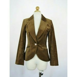H&M Velvet Split Coattail Fitted Blazer 4