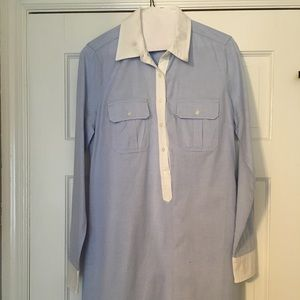 GAP Blue Oxford Dress Size XS With Small Stain