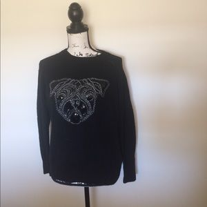 H&M Pug Sweatshirt Size Small