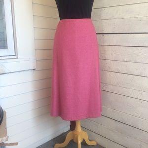 A line wool skirt