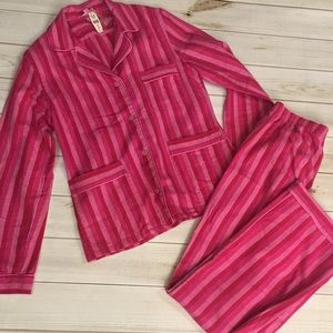 Victoria's Secret Pink and red stripe Pajamas *NWT