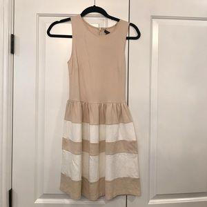 Aqua beige stretchy dress