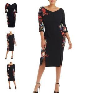 Black halo Prism Sheath Dress