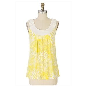 Anthropologie Yellow Bird In The Palm Tank Top