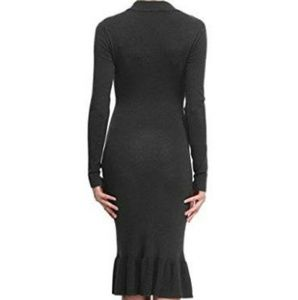 Leadingstar Dresses - Gray Dress Mock Turtleneck Knit size XS
