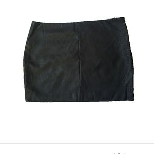 NWOT Forever 21 Faux Leather Mini Skirt