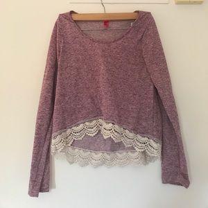 Light Purple Crop Sweater