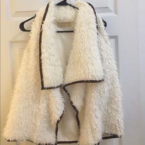 Cream Furry Vest