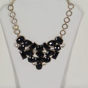 AMRITA SINGH Statement Necklace Black & Gold
