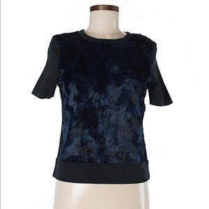 "Medium Zara W&B collection blouse ""fur"" tie-dye"