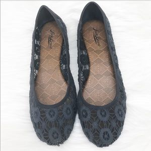 Shoes - Lucky Brand Crochet Ballet Flat Navy Size 8.5