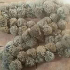 Cejon rabbit fur wrap
