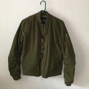 Bomber jacket olive silky