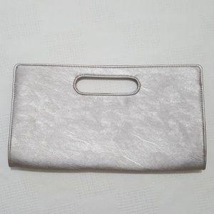 NWT Express Metallic Silver Clutch