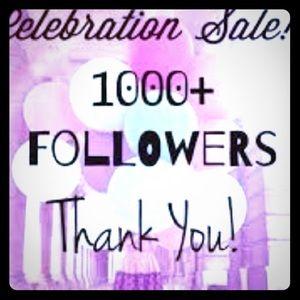 Wahoo 1000 followers ! EVERYTHING 15% OFF