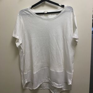 Like New J.Crew Off White Cotton/Poly Tee Size XL