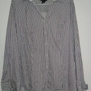 *new* Lane Bryant purple stripped shirt
